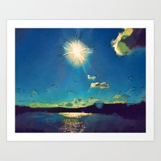 Sunshine at the Black Sea Art Print