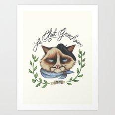 Monsieur Grumpy Art Print