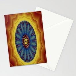 """Kaliedoscope/Mandala - """"Waves"""" Stationery Cards"""