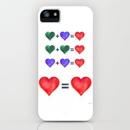 Love is love hearts pop art poster. iPhone Case
