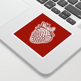 Red Strawberry Sticker