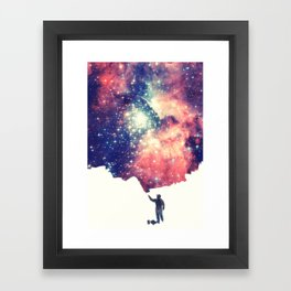 Painting the universe (Colorful Negative Space Art) Framed Art Print