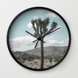 Joshua Tree On A Calm Cool Day Wall Clock