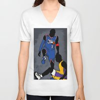 lakers V-neck T-shirts featuring The Step Over by nissa