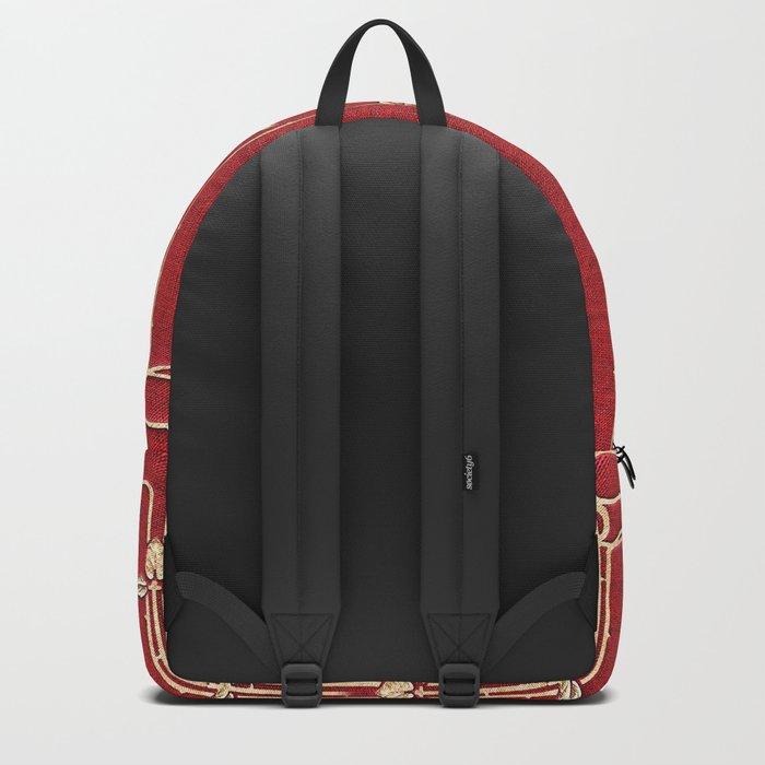 Red Rose Vines Backpack