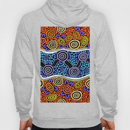 Authentic Aboriginal Art - River Journey Hoody
