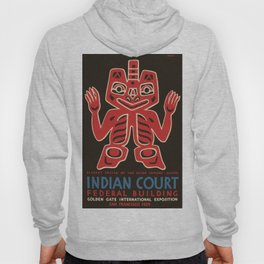 Vintage poster - Indian Court Federal Buildinng Hoody