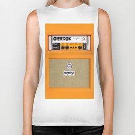 Bright Orange color amplifier amp Biker Tank