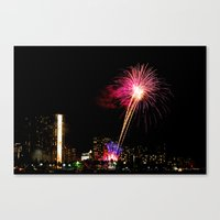 friday night lights Canvas Prints featuring Friday Night Lights ... Waikiki Style by Allen G.