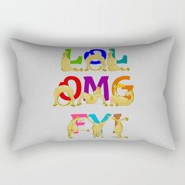 Cute Ponies LOL OMG FYI Rectangular Pillow