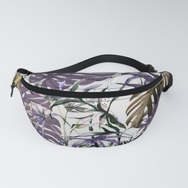 Collage Jungle Tropical Illustration Fanny Pack