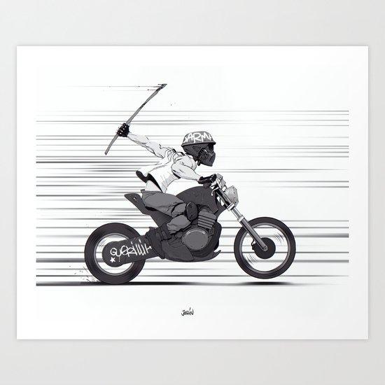 Guerilla Biker Art Print