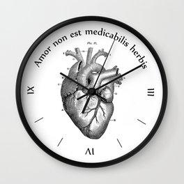 Amor non est medicabilis herbis Wall Clock