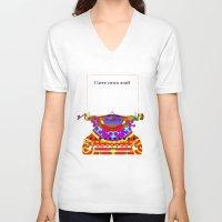 typewriter V-neck T-shirts featuring Typewriter by Design4u Studio