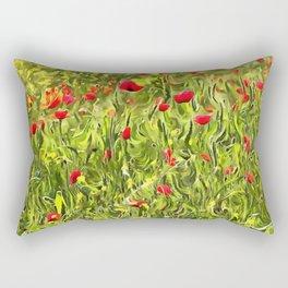 Surreal Hypnotic Poppies Rectangular Pillow