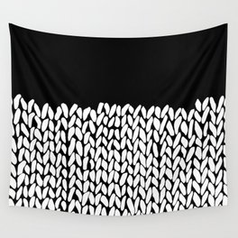 Half Knit  Black Wall Tapestry