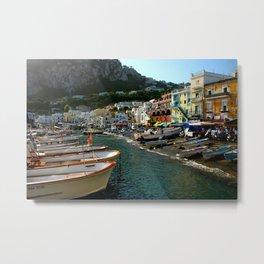 Capri Harbor Metal Print