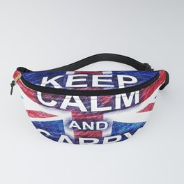 Keep Calm and Carry On Pastel Sketch Fanny Pack