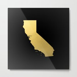 California Golden State Metal Print
