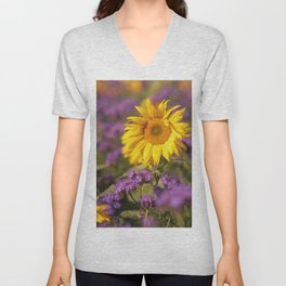 Sunflowers splendor in the fall Unisex V-Neck