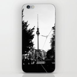 Berlin's streets in black and white 3 iPhone Skin