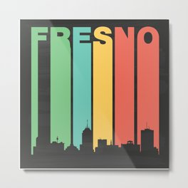 Vintage Fresno Cityscape Metal Print