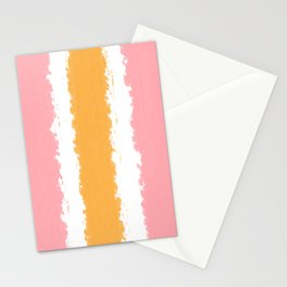 Summer Squeeze - Pink White Orange Stationery Cards