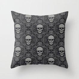 skull texture Throw Pillow