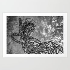 The Arcelormittal Orbit Monochrome Art Print
