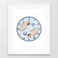 the last airbender Framed Art Prints featuring Avatar The Last Airbender Air Clock Face by Art of Sara