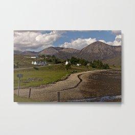 Road on the Skye Metal Print