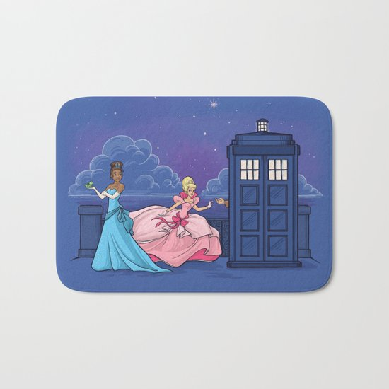 The Princess and the Doctor Bath Mat