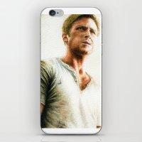 ryan gosling iPhone & iPod Skins featuring Ryan Gosling - Drive by Hilary Rodzik