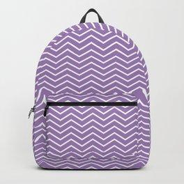 Modern ultraviolet white zigzag chevron pattern Backpack