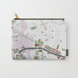 Paris city map minimal Carry-All Pouch