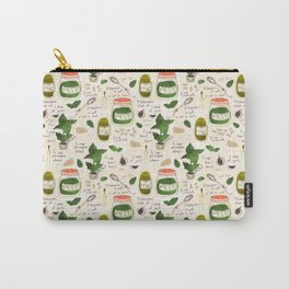 Pesto. Illustrated Recipe. Carry-All Pouch