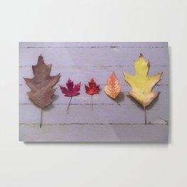 5 Leaves Metal Print