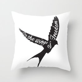 On the wings of Freedom Throw Pillow