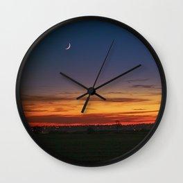 New Moon at Sunset Wall Clock