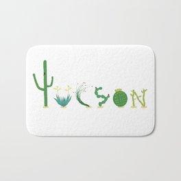 Tucson Cacti Letters Bath Mat