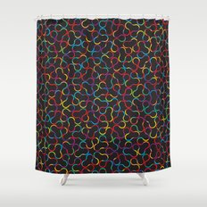 Crystallography Shower Curtain