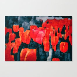 Tulip Field at Night Canvas Print