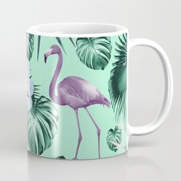 Tropical Flamingo Flower Jungle #5 #tropical #decor #art #society6 Coffee Mug