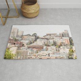 Top of a San Francisco Hill - San Francisco Photography Rug