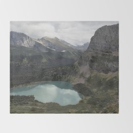 Grinnell Lake from the Trail No. 2 - Glacier NP Throw Blanket