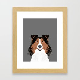 Jordan - Shetland Sheep Dog gifts for sheltie owners and dog people gift ideas perfect dog gifts Framed Art Print