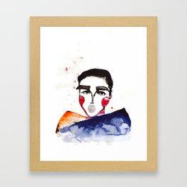 Ula in a Heavy Scarf Framed Art Print