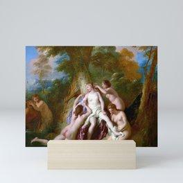 Jean-François de Troy Diana and Her Nymphs Bathing Mini Art Print
