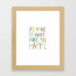 Positive Quote Framed Art Print
