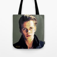 bill Tote Bags featuring Bill by Aubrey Meeks